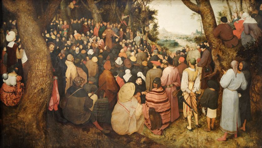 The Preaching of St. John the Baptist by Pieter Bruegel the Elder, 1526